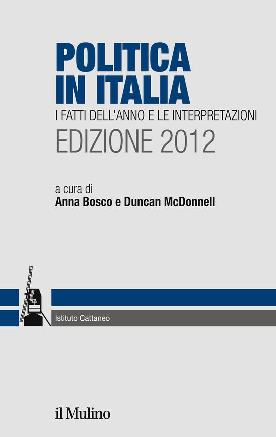 Copertina del libro Politica in Italia. Edizione 2012