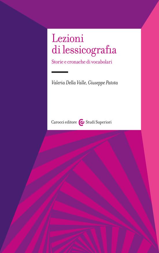 Copertina del libro Lezioni di lessicografia